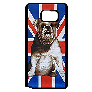 Samsung Galaxy Note 5 Case Cover Lovely Pet Dog Design Unique Union Jack Phone Case Cover Flag Customized
