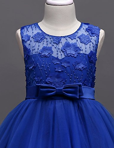 aibeiboutique Flower Girl Dresses Pageant Princess Bridesmaid Dress for Wedding First Communion (7-8 Years, Royal Blue) by aibeiboutique (Image #4)