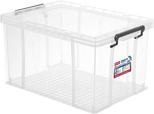 HUIQI Caja almacenaje Caja de Almacenamiento de plástico Grande Ropa del hogar Juguetes Caja de Almacenamiento Transparente (40L) Cajas almacenaje plastico (Size : 65L): Amazon.es: Hogar