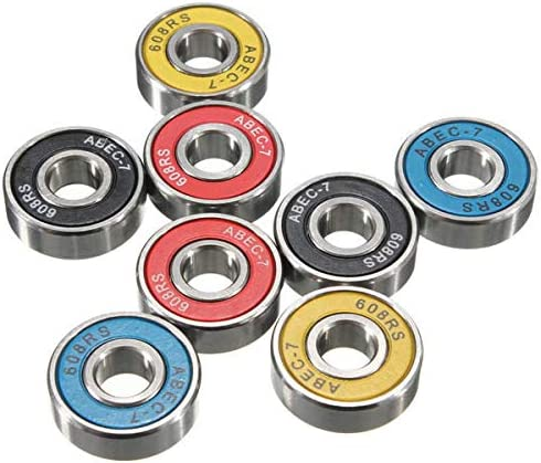 OKIl 8pcs 8x22x7mm ABEC 7 Groove Ball Bearings Skateboard Bearings