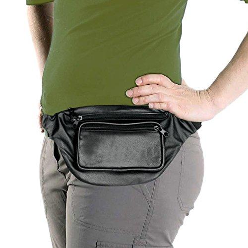 Monster Fanny Pack (Black Leather Fanny Pack, Waist Bag, Genuine Leather)