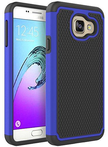 Samsung Galaxy A3 2016 Hülle, Pasonomi® [Outdoor] [Dual Layer] Silikon Tasche Schutzhülle Case Cover für Samsung Galaxy A3 (2016) (Blau)