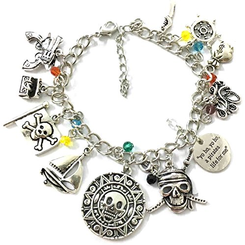 BlingSoul Pirates of The Caribbean Charm Bracelet Gifts - Captain Jack Sparrow Merchandise…
