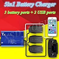 5in1 Battery Charger USB Charger Battery Parallel Charger RC Smartphone Charger for DJI MAVIC PRO