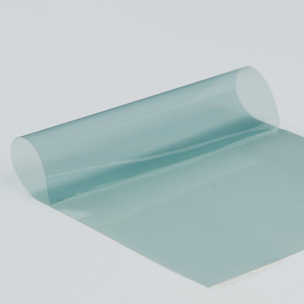 HOHO 19.6x78.7 VLT 75/% Light Blue Window Tint Nano Ceramic Solar Film Anti Glare for Car Windshield Front Rear Window