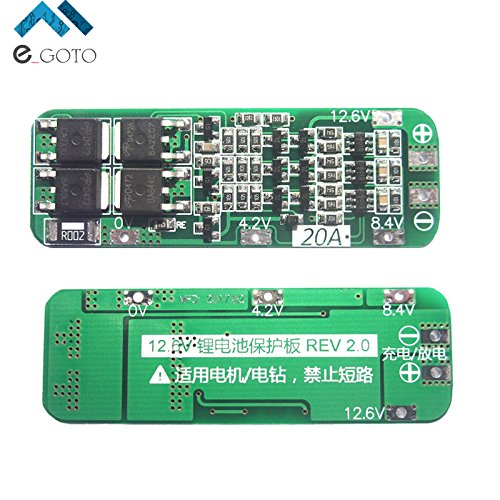 3S 20A Li-ion 18650 Lithium Battery Protection Board Lipo Battery Charger Protect PCB BMS 12.6V Cell Module For Drill (20a Charger Module)