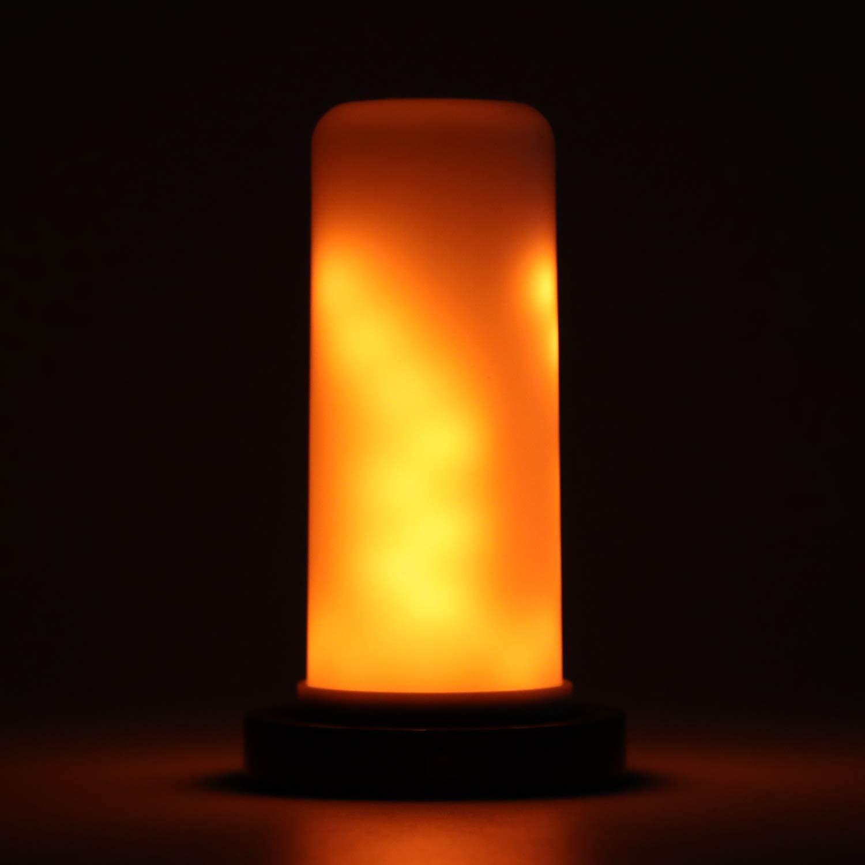 Lámpara LED con llama llama llama parpadeante, ONEVER Atmósfera con luz intermitente Bombilla de llama cálida, Lámpara de mesa decorativa vintage para interiores exteriores, Halloween, Navidad (1pc) 7d7958