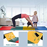 XXFBag Tumbling Mat 4x8x2 Gymnastics Mats Gym Mats Folding No-Slip,Lightweight,Waterproof_ Four Color (Multiple_Black_Bule_Burgundy)