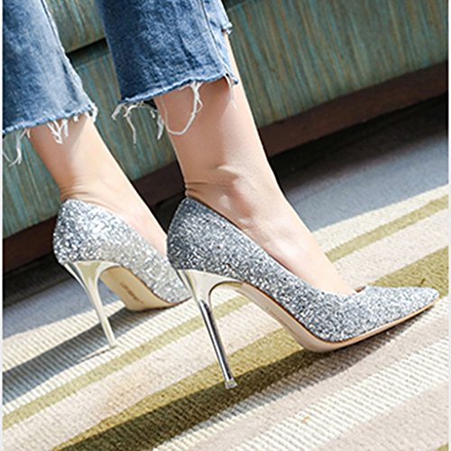 Altos Compras Cristal Silver Tacones Size Color Zapatos Trabajo Femenina 39  Dama Honor De Punta Verano Novia fC0IPOq d5e961dc26a0