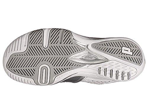 Prince T22 Shoe,White/Silver,6 M