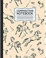 horse Composition Notebook: Back to School horse Composition Notebook: Beautiful Wide Blank Lined Workbook for Kids Girls Boys Students Teens Home School and College .