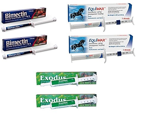 Bimedia Apple Flavored Horse Wormer Equine Ivermectin Yearly Kit Worming Paste by Bimedia