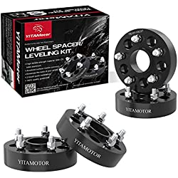"Wheel Spacers 5x5 for Jeep, YITAMOTOR Forged Hubcentric 1.5"" Wheel Adapters, SGS Approved, Compatible for Jeep 2007-2017 Wrangler JK JKU, 1999-2010 Grand Cherokee WJ WK, 2005-2010 Commander XK"