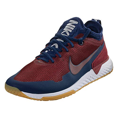 Game Nike Conquer - Nike FC Men's Soccer Training Shoes Red Blue White (9.5)