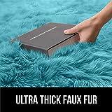 Gorilla Grip Thick Fluffy Faux Fur Washable