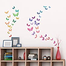 Decowall,DW-1602,Watercolor Butterflies peel & stick wall decals stickers