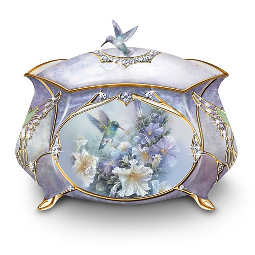 - Lena Liu Precious Treasure Hummingbird Music Box by Ardleigh Elliott
