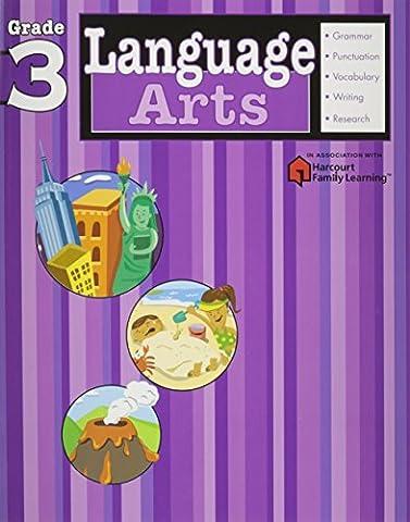 Language Arts: Grade 3 (Flash Kids Harcourt Family Learning) (Language Arts For Kids)