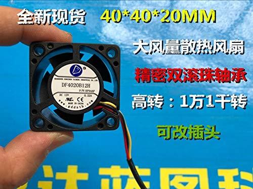 REFIT New 40 40 4020 20 mm 4 cm//cm 12 v DF4020B12H Wind Ball a Cooling Fan