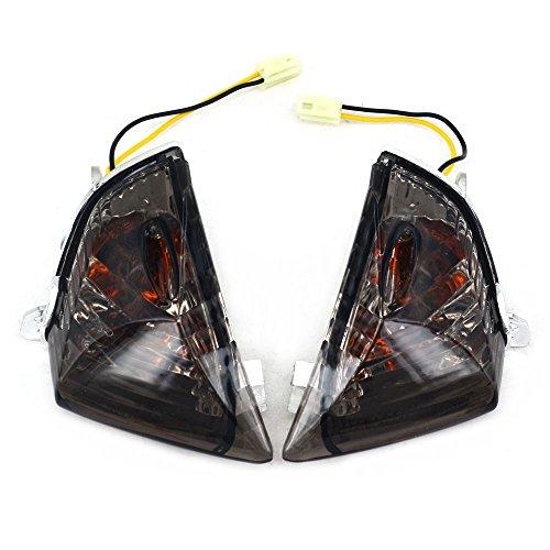 Black Front Turn Signals Blinker Light Lamp Indicator for GSXR600 GSXR750 2006-2007 GSXR1000 2005-2006: