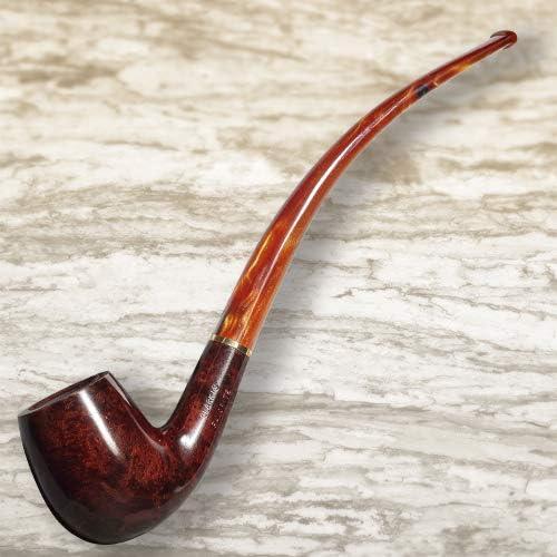 Savinelli Clark/'s Favorite Smooth Bent Billiard Smoking Pipe 6mm Filter 5240K