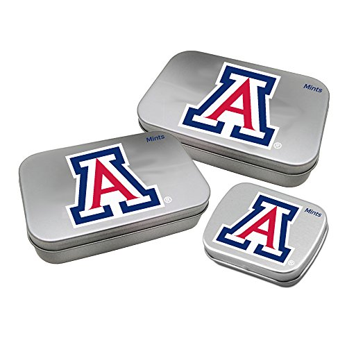 Worthy Promotional NCAA Arizona Wildcats Decorative Mint Tin 3-Pack with Sugar-Free Mini Peppermint Candies