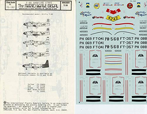 Authenticals Microscale Decals 1:72 F-80 Shooting Stars for sale  Delivered anywhere in USA