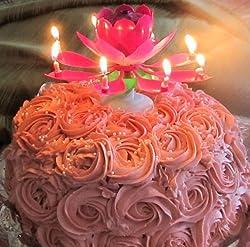Virtual Store USA Magic Happy Birthday Lotus Flower Music Candle