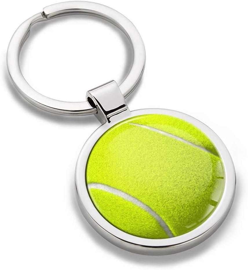 SkinoEu® Llavero de Metal 3D con Diseño de Tennis Ball Pelota de ...