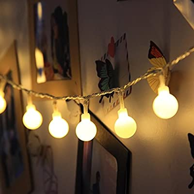 Ball String Lights, 100 LED 33ft/10m Globe Fairy Lights Christmas Lights for Garden Patio Party and Holiday Decoration
