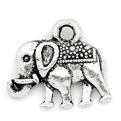 Housweety Pendants Elephant Animal 14mmx12mm
