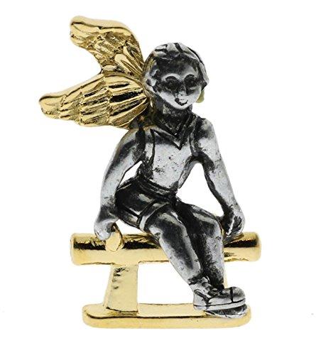 Gymnast Angel Gold Tone 1 1/4 Inch Hat Or Lapel Pin BingGyD193 ()