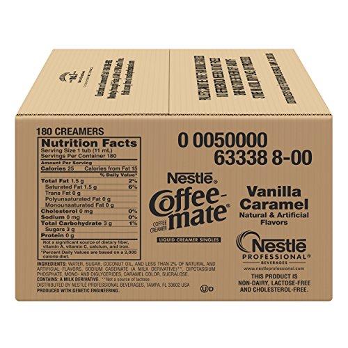 NESTLE COFFEE-MATE Coffee Creamer, Vanilla Caramel, liquid creamer singles, Pack of 180 by Nestle Coffee Mate (Image #5)