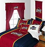 Cleveland Cavaliers 4 Pc TWIN Comforter Set (Comforter, 1 Flat Sheet, 1 Fitted Sheet, 1 Pillow Case) PERFECT FIT FOR A FAN'S BEDROOM OR DORM!