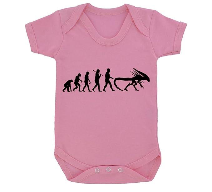 Amazon com: Evolution of a Xenomorph Baby Bodysuit Pink with