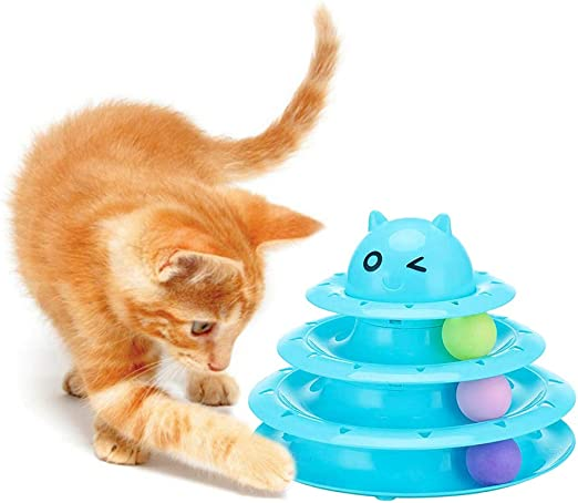 HanDingSM Juguete Interactivo del Gato, Pelota De Juguete del Gato ...