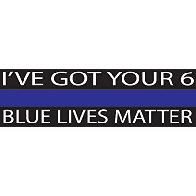 10in x 3in Large Blue Lives Matter Flag Auto Decal Bumper Sticker Support Law Enfocement Police Officers Thin Blue Line (I\'ve Got Your): Automotive [5Bkhe1508168]