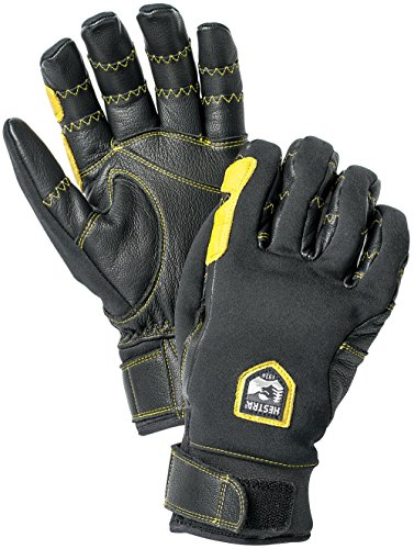 ip Active 5 Finger Glove, Black/Black, Size 7 (Hestra Windstopper)