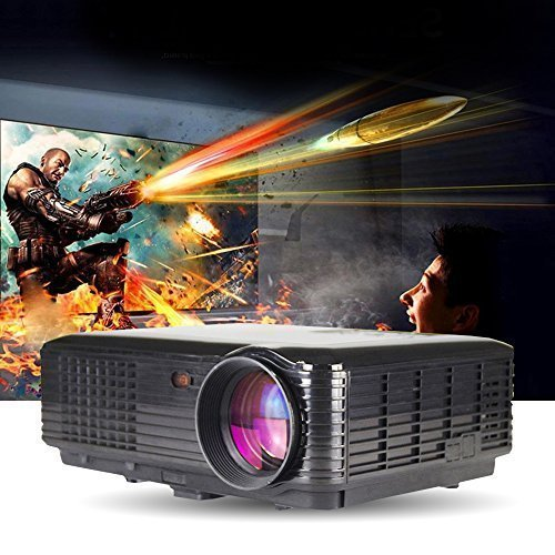 3500 lumens 3D Smart Projector Full HD 1080p Cinema Support YPbPr, TV, HDMI Input, USB, VGA Port, 3-in-1 AV In for Home Cinema Theater, Child Games (Full 3d Projector 1080p)