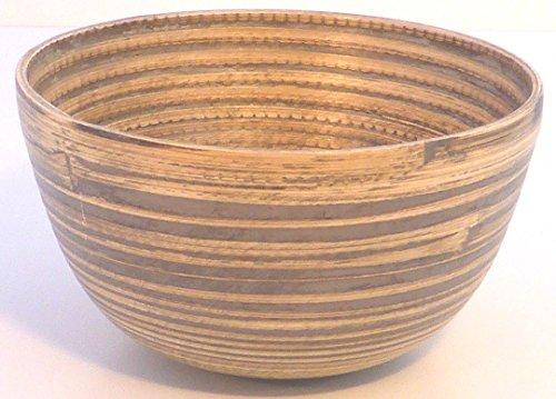 Bambus-Reisschüssel, Größe: 12x6cm, Farbe: Grau, geeignet für Reis, Snacks, Dips und mehr. Schöne Farben und Formen, Handarbeit (Grau)
