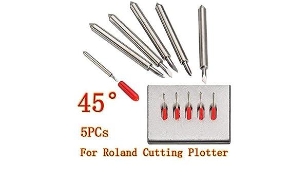 SUCAN 5Pcs Cuchillas de corte de 45 grados Plotter de corte Gcc Cuchillas de cuchilla de cuchilla de corte de vinilo para cortador Roland: Amazon.es: Bricolaje y herramientas