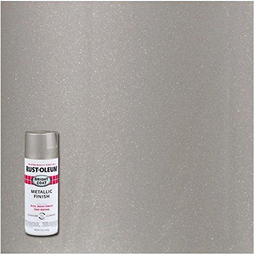 Rust-Oleum 7715830-6 PK Stops Rust Bright Coat Spray Metallic Color 11 oz, Aluminum, 6 Pack, Aluminium