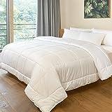 PUREDOWN - Alternative Comforter, Duvet Insert, 300 Thread Count, Cotton...