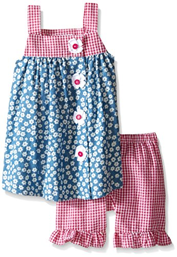 Bonnie Jean Toddler Girls' Sleeveless Dress and Legging Set, Fuchsia, - Jean Bonnie Gingham Jeans