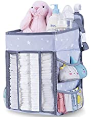 Diaper Caddy Organizer for Changing Table | Hanging Diaper Stacker for Nursery Organization | Crib Side Organizer | Newborn Baby Shower Gifts