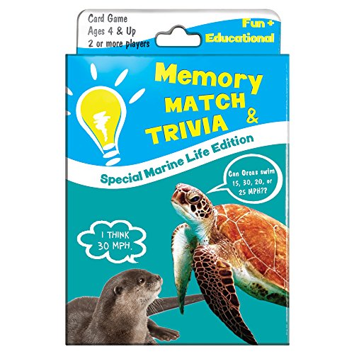 Tree-Free Greetings Marine Wildlife Memory Match Card Game, For Ages 4 and Up (KG13407) ()