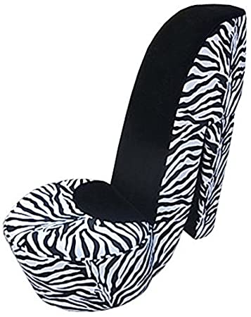 Superior Williamu0027s Home Furnishing 74038 Zebra High Heel Chair, Multicolor