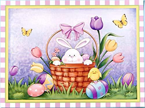 Easter Bunny in Basket Refrigerator or Dishwasher Magnet 23