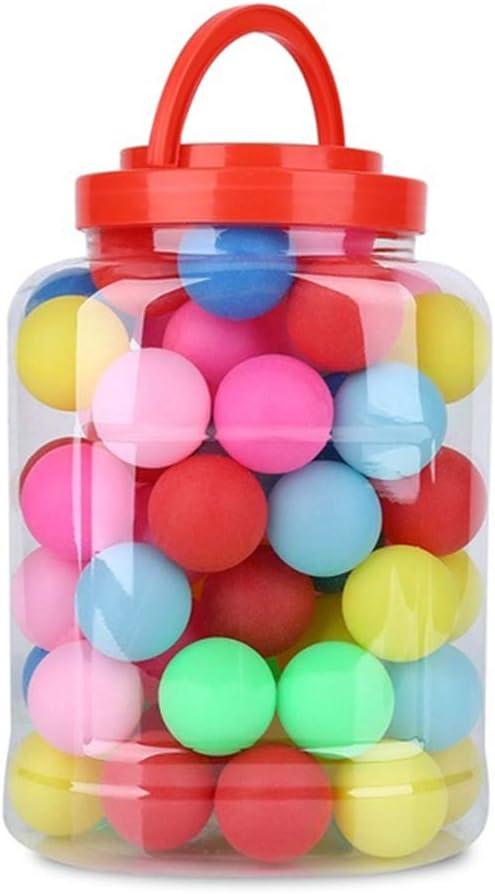 Deyan 60Pcs 40mm Bolas de Ping Pong Coloridas de Cerveza Bolas de Tenis de Mesa con Soporte de Almacenamiento para Divertidos Juegos de Fiesta Infantiles
