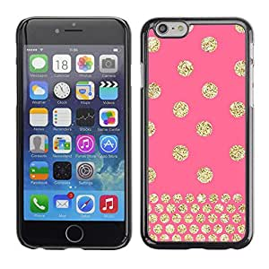 LASTONE PHONE CASE / Carcasa Funda Prima Delgada SLIM Casa Carcasa Funda Case Bandera Cover Armor Shell para Apple Iphone 6 Plus 5.5 / Cool Polka Dot Gold Pink Glitter Yellow Pattern